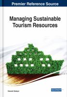 Managing sustainable tourism resources için kapak resmi