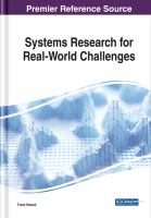 Systems research for real-world challenges için kapak resmi