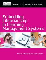 Embedding librarianship in learning management systems:  a how-to-do-it manual for librarians için kapak resmi