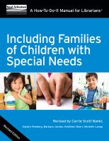 Including families of children with special needs:  a how-to-do-it manual for librarians, Revised edition için kapak resmi