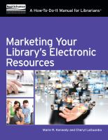 Marketing your library's electronic resources:  a how-to-do-it manual for librarians® için kapak resmi