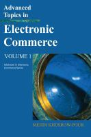 Advanced topics in electronic commerce. Volume 1 için kapak resmi