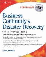 Business continuity and disaster recovery planning for it professionals için kapak resmi