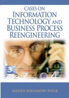 Cases on information technology and business process reengineering için kapak resmi
