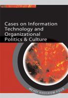 Cases on information technology and organizational politics & culture için kapak resmi