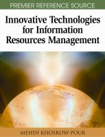 Innovative technologies for information resources management için kapak resmi