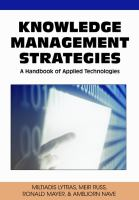 Knowledge management strategies a handbook of applied technologies için kapak resmi