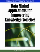 Data mining applications for empowering knowledge societies için kapak resmi