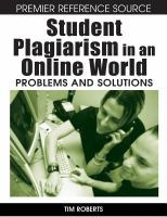 Student plagiarism in an online world problems and solutions için kapak resmi