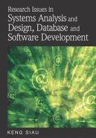 Research issues in systems analysis and design, databases and software development için kapak resmi