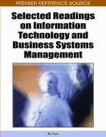 Selected readings on information technology and business systems management için kapak resmi