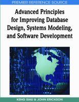 Advanced principles for improving database design, systems modeling and software development için kapak resmi