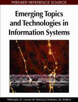 Emerging topics and technologies in information sytems için kapak resmi