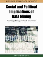 Social and political implications of data mining knowledge management in e-government için kapak resmi