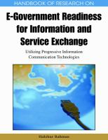 Handbook of research on e-government readiness for information and service exchange utilizing progressive information communication technologies için kapak resmi