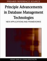 Principle advancements in database management technologies new applications and frameworks için kapak resmi