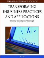 Transforming E-business practices and applications emerging technologies and concepts için kapak resmi