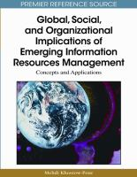 Global, social, and organizational implications of emerging information resources management concepts and applications için kapak resmi