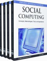 Social computing concepts, methodologies, tools and applications için kapak resmi