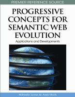 Progressive concepts for Semantic Web evolution applications and developments için kapak resmi