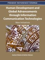 Human development and global advancements through information communication technologies new initiatives için kapak resmi