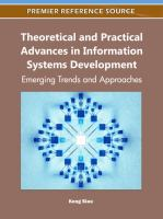 Theoretical and practical advances in information systems development emerging trends and approaches için kapak resmi