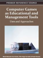 Computer games as educational and management tools uses and approaches için kapak resmi