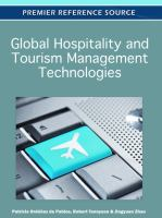 Global hospitality and tourism management technologies için kapak resmi
