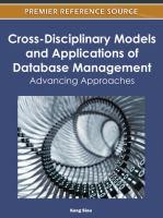 Cross-disciplinary models and applications of database management advancing approaches için kapak resmi