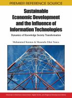 Sustainable economic development and the influence of information technologies dynamics of knowledge society transformation için kapak resmi