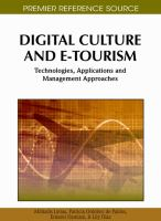 Digital culture and e-tourism technologies, applications and management approaches için kapak resmi