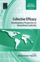 Collective efficacy interdisciplinary perspectives on international leadership için kapak resmi