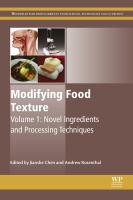 Modifying food texture. Volume 1, Novel ingredients and processing techniques için kapak resmi