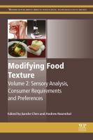 Modifying food texture. Volume 2, Sensory analysis, consumer requirements and preferences için kapak resmi