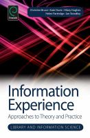 Information experience için kapak resmi