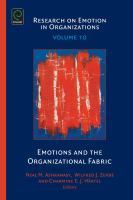 Emotions and the organizational fabric için kapak resmi