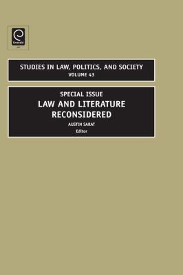 Law and literature reconsidered için kapak resmi