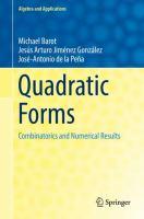 Quadratic Forms için kapak resmi