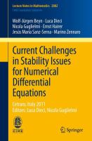 Current Challenges in Stability Issues for Numerical Differential Equations Cetraro, Italy 2011, Editors: Luca Dieci, Nicola Guglielmi için kapak resmi