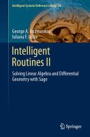 Intelligent Routines II Solving Linear Algebra and Differential Geometry with Sage için kapak resmi
