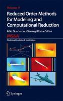 Reduced Order Methods for Modeling and Computational Reduction için kapak resmi