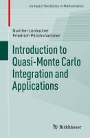 Introduction to Quasi-Monte Carlo Integration and Applications için kapak resmi