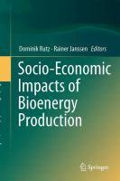 Socio-Economic Impacts of Bioenergy Production için kapak resmi