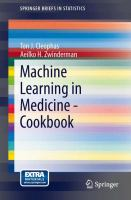 Machine Learning in Medicine - Cookbook için kapak resmi