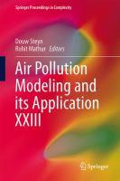 Air Pollution Modeling and its Application XXIII için kapak resmi