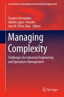 Managing Complexity Challenges for Industrial Engineering and Operations Management için kapak resmi