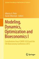 Modeling, Dynamics, Optimization and Bioeconomics I Contributions from ICMOD 2010 and the 5th Bioeconomy Conference 2012 için kapak resmi