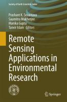 Remote Sensing Applications in Environmental Research için kapak resmi