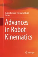 Advances in Robot Kinematics için kapak resmi