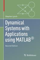 Dynamical Systems with Applications using MATLAB® için kapak resmi